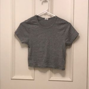 Calvin Klein cropped grey shirt